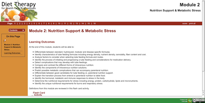 Nutrition Support & Metabolic Stress SoftChalk Lesson