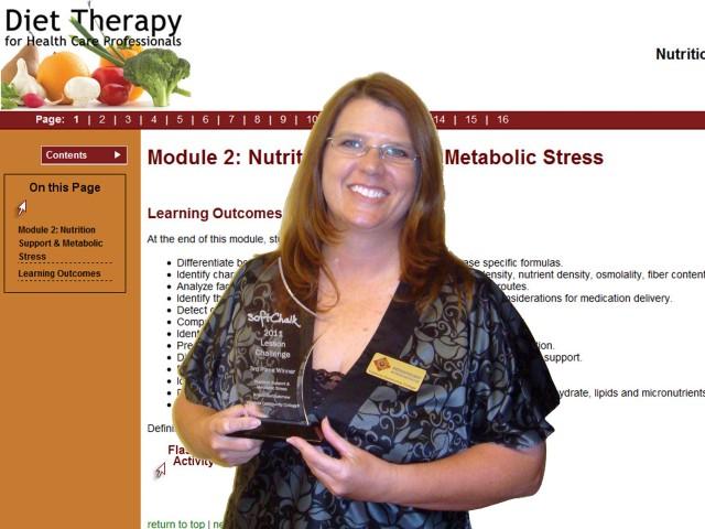 SoftChalk 2011 Lesson Challenge Winner Kristin Bartholomew